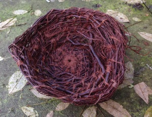 Heather, hand-spun wool, beeswax, red ochre, flax oil